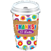 "28"" Thanks A Latte Foil Shape"