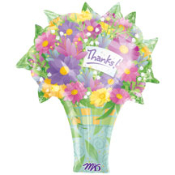 "27"" Thanks Floral Bouquet Foil Shape"