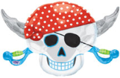"28"" Pirate Party Skull Foil Shape"