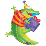 "36"" Alligator Birthday Foil Shape"