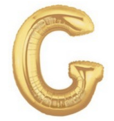 Letter Balloon G Gold