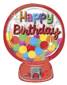 Birthday Gumball Machine Jr Shape Balloon