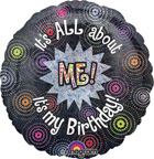 Birthday All About Me Holographic Balloon