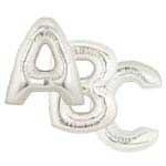 "Silver 36"" Megaloon Letters"