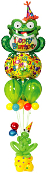 "36"" Turtle Birthday Foil Shape"