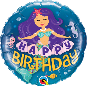 Birthday Mermaid Balloon