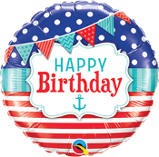 Birthday Nautical & Pennants Balloon