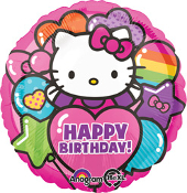 Birthday Hello Kitty Rainbow Balloon
