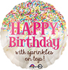 Sprinkles On Top Birthday Balloon