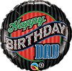 Birthday Dad Stripes Balloon